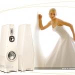 Aurum Lautsprecher in Cremeweiß