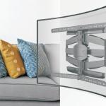 """reflecta: Wandhalterungssystem für """"Curved Fernseher"""""""