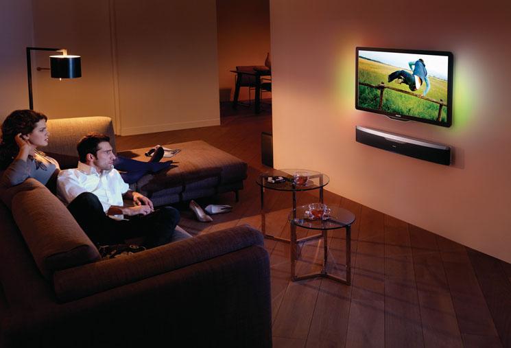 philips soundbar mit ambisound f r ein surround erlebnis wie im kino. Black Bedroom Furniture Sets. Home Design Ideas
